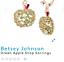 US-Seller-Betsey-Johnson-Crystal-Green-Apple-Drop-Earrings-Authentic thumbnail 3