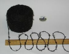 50g ball Black with hint of grey brown 4 ply boucle knitting wool & acrylic yarn