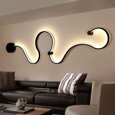 Creative Acrylic Curve Light Snake LED Lamp Nordic Led Belt Wall Sconce ForDecor