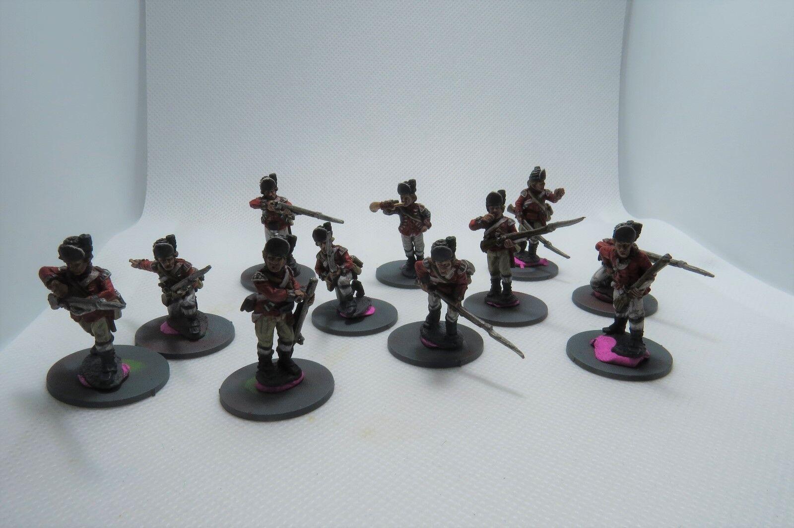 Wargames gießerei, britische leichte infanterie, 28 mm, professionell gemalt.