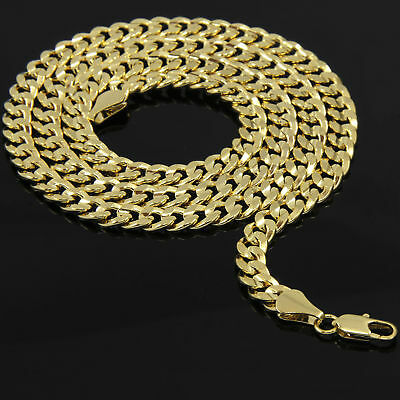 Mens 14k Yellow Gold Plated 24in Italian Cuban Chain Necklace 10 MM