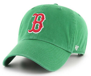 BOSTON-RED-SOX-MLB-KELLY-GREEN-ST-PATTY-039-S-DAY-039-47-CLEAN-UP-DAD-HAT-CAP-NEW