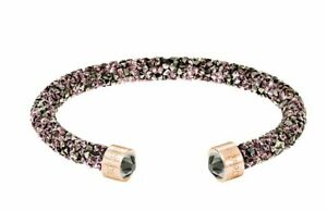 NIB-69-Swarovski-Crystaldust-Cuff-Bracelet-Single-Brown-Size-Medium-5348098