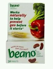 4x BEANO to Help Prevent Gas and Bloating  30 tablets (No box) 120 total