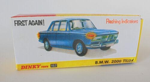 Repro Box Dinky Nr.157 BMW 2000 Tilux