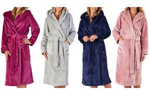 Image is loading Slenderella-Womens-Luxury-Thick-Flannel-Fleece-Dressing- Gown- 58990de94