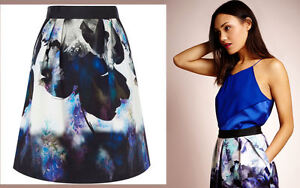 ex-Coast-Salia-Floral-Print-A-Line-Occasion-Party-Skirt