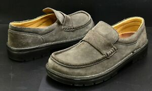 birkenstock footprints cambridge grey suede loafers shoes