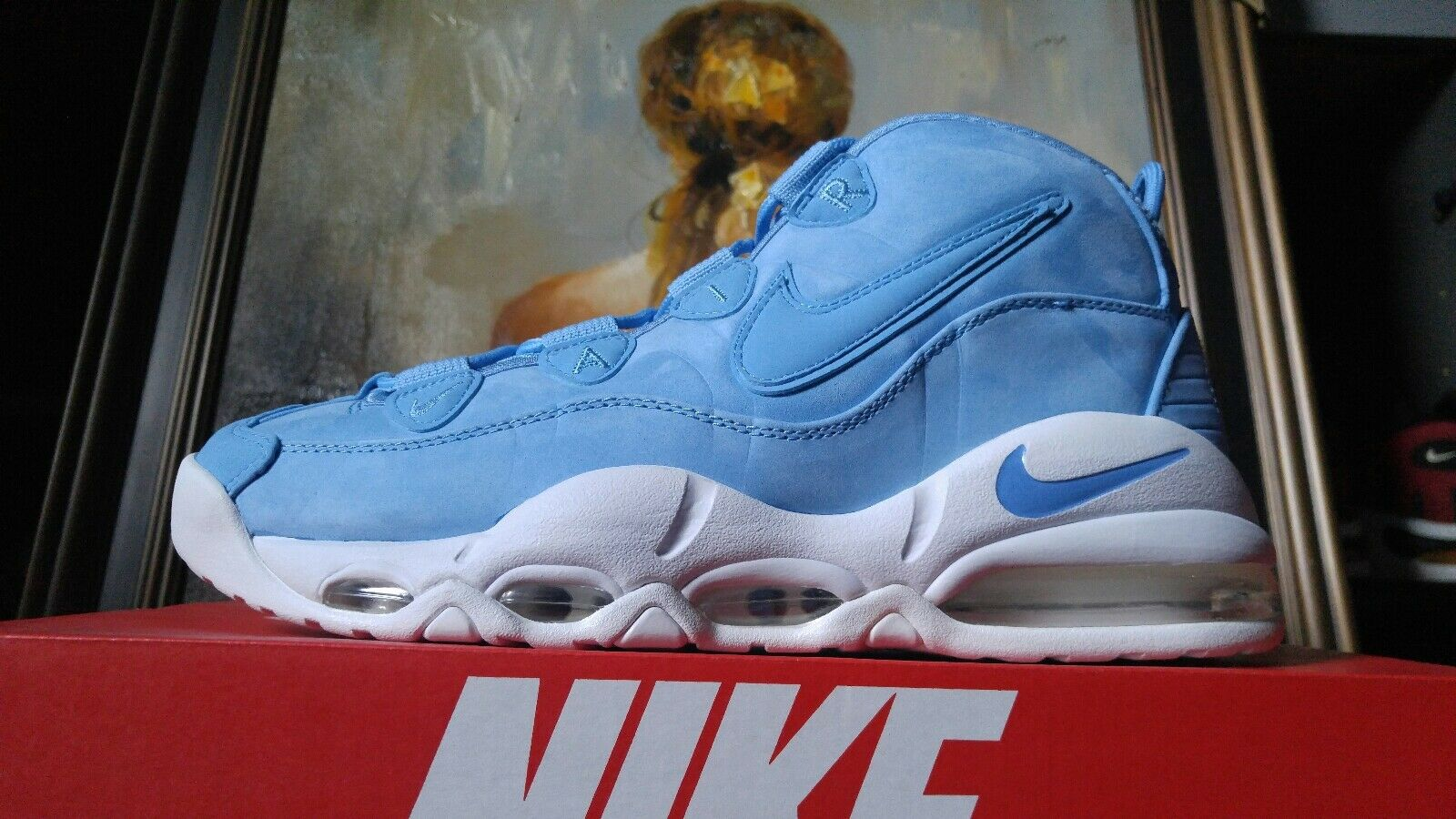 Nike Air Max Uptempo '95 AS QS Size 9 9.5 10 10.5 University Carolina bluee