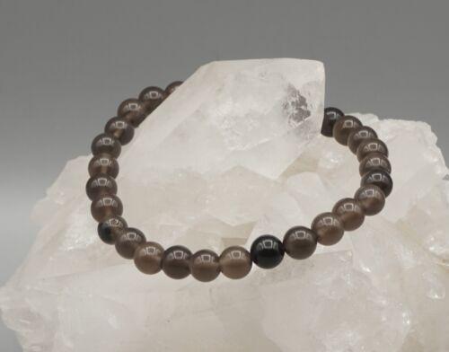 19 cm Edelstein-Armband RAUCHOBSIDIAN Armband Stretcharmband 6 mm Perlen ca