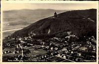 Porta Westfalica AK ~1940 Denkmal Kaiser Wilhelm Fliegeraufnahme Luftbild Stadt