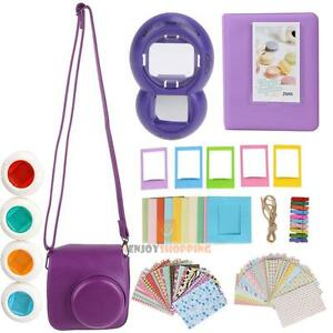 7-in-1-Instant-Film-Camera-Accessories-Bundles-for-Fujifilm-Instax-Mini-8-Purple