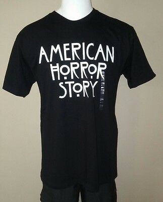 Activewear Tops American Horror Story Tv Title B&w Official Black Medium Med Mens Tee Shirt New 2019 Latest Style Online Sale 50% Men's Clothing
