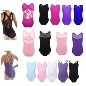 Kids-Girls-Gymnastics-Ballet-Dance-Dress-Leotard-Bodysuit-Tutu-Dancewear-Costume