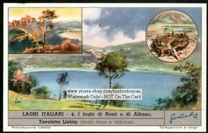 Italy-Lakes-Laghi-Nemi-And-Albino-c50-Y-O-Trade-Ad-Card