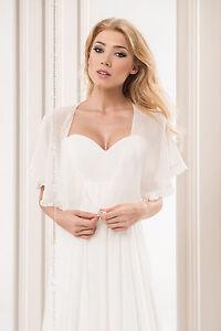 Womens-White-Ivory-Black-Chiffon-Wedding-Shawl-Bridal-Prom-Wrap-Satin-Edge-Stole