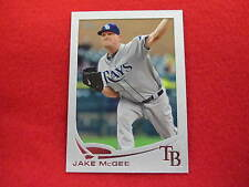 2013 Topps Jake McGee  silver matte baseball card  SERIAL NUMBERED 10 OF 10