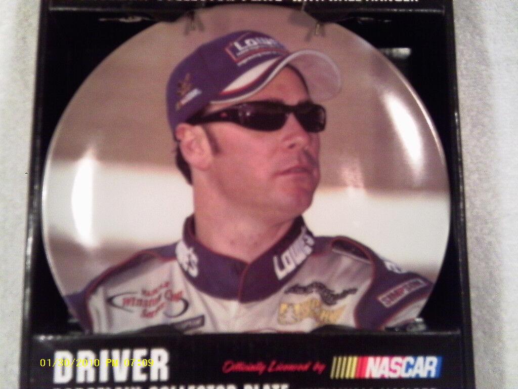 [N12] NASCAR JIMMIE JOHNSON 8  PORCELAIN COLLECTOR PLATE W WALL HANGER 2003