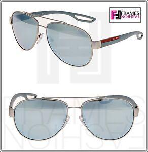 af66daa0328 PRADA LINEA ROSSA LJ SILVER 55Q Grey Rubber Silver Mirrored ...