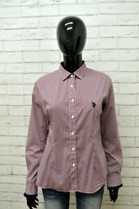 Camicia-US-POLO-ASSN-Donna-Taglia-M-Maglia-Blusa-Shirt-Woman-Cotone-Manica-Lunga