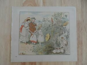Old-antique-colour-print-Randolph-Caldecott-Original-antique-print-19thc