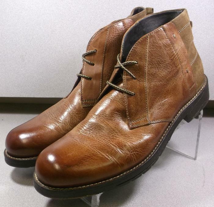 208812 SPBT 50 Chaussures Hommes Taille 9 m Dark Tan Bottes en cuir Johnston & Murphy