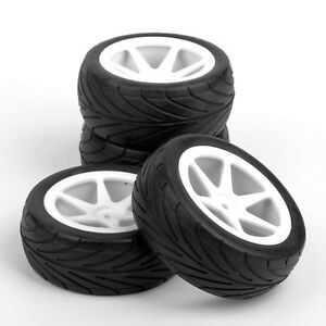 4Pcs-Front-amp-Rear-1-10-Buggy-Tires-amp-Wheel-For-HSP-HPI-RC-On-Road-Racing-Model-Car