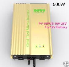 grid tie inverter 12V battery or solar 500w 230V 50hz on-grid mppt solar control