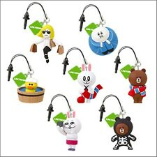 LINE Friends Brown Cony Sally Mascot Phone Strap Gacha Part 5 Full Set Toy L222