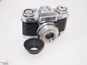 Zeiss-Ikon-Contaflex-SLR-Vintage-Objektiv-Tessar-2-8-50-mm-Wechselmagazin