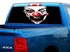 P524 Evil Clown Rear Window Tint Graphic Decal Wrap Back Truck Tailgate