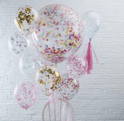 Große Helium Party Hochzeit Dekoration Fine Konfetti gefüllt Ballons