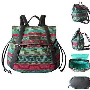 retro canvas small backpack rucksack daypack cute bag