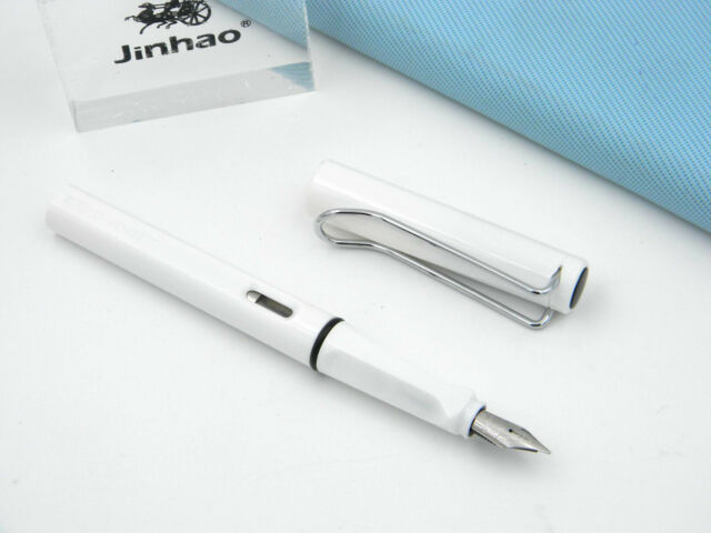 JINHAO new 599 transparent Plastic fashion White popular Finance Fountain Pen