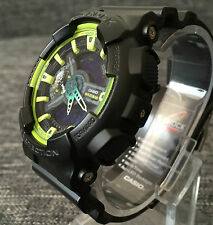 CASIO G SHOCK GA-110LY-1A BLACK & GREEN XLARGE ANALOG&DIGITAL 200M WR BRAND NEW