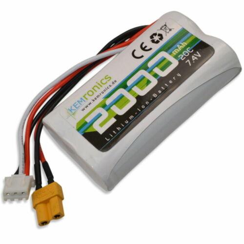Batterie 7.4 V 2000 mAh xt30 pour Huina 1580 Chaînes Excavateurs 1583 roues NEUF
