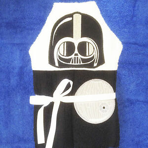 In The Hoop Hooded Towel Vader Machine Embroidery Patterns