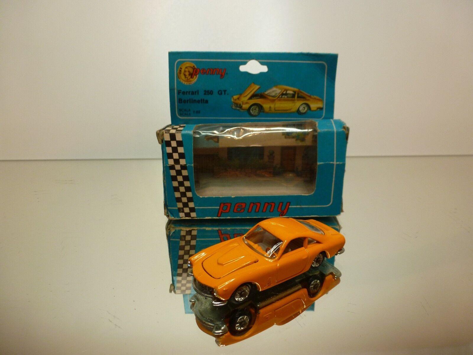 PENNY 0 21 FERARI 250 GT BERLINETTA - YELLOW 1 66 RARE - GOOD CONDITION IN BOX