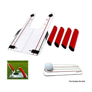 Details About Pro Speed Trap Base Golf Swing Training Aid 4rods Hitting Practice Golf Trainer