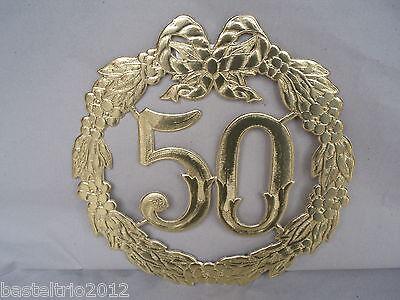 Jubiläumszahl 50 Gold Goldhochzeit Hochzeit Türdeko Krepprosen Türkranz Jubiläum Ebay