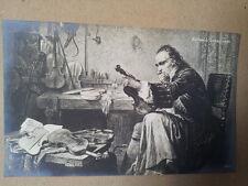 antique post card ANTONIO STRADIVARI, Breitkopf Haertel