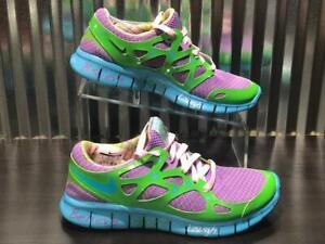 Details about Nike Nike Free Run + 2 DB 437527 543 Doernbecher Violet Green Blue QS