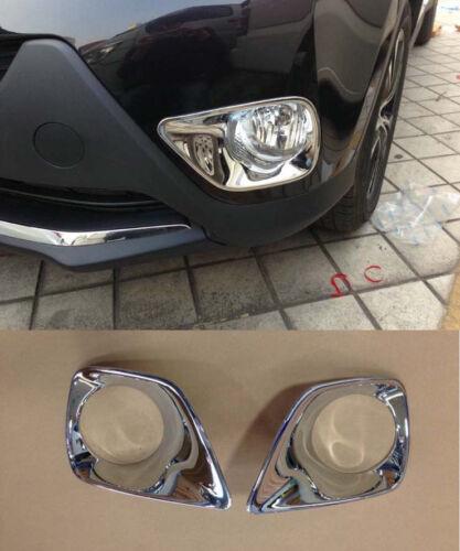 Chrome Front Fog Light Cover Trim for 2013-2015 Toyota RAV4 new