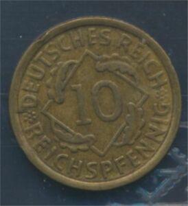 German-Empire-Jagerno-317-1932-e-very-fine-10-reich-pfennig-spikes-7879660