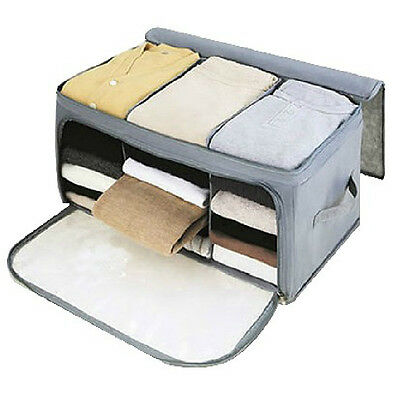 Foldable Bamboo Charcoal Non Woven Cloth Fibre Storage Box Container For