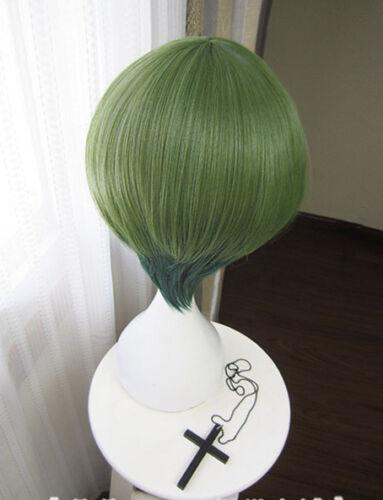 A3 A3 YUKI RURIKAWA Summer Grün Green Cosplay Perücke wig Kurz Short