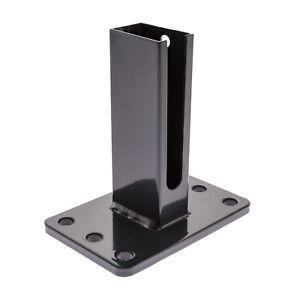 Duebelplatte-15-x-10cm-Zaunpfosten-Doppelstabmattenzaun-Pfostenschuh-anthrazit