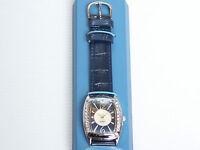 Beautiful Avon Easy To Read Blue Leather Strap Quartz Watch Ladies Women's Dress