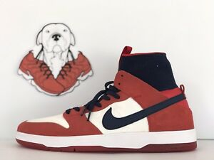 05b0fb2e80763 NIKE SB ZOOM DUNK HIGH ELITE UNIVERSITY RED COLLEGE NAVY MNS. SZ.12 ...