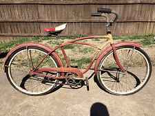 "Vintage 40s 50s Schwinn Typhoon Bicycle Original Paint Antique 24"" Balloon Tire"